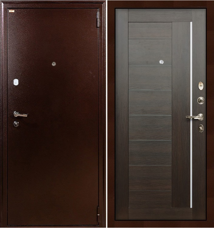 Входная дверь Лекс 1А / Верджиния Венге (панель №39)