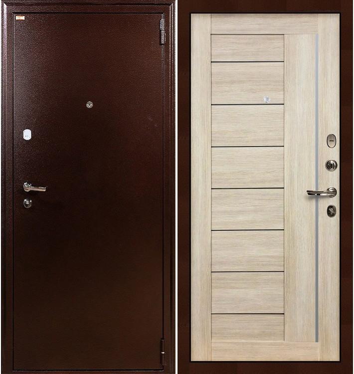 Входная дверь Лекс 1А / Верджиния Кремовый ясень (панель №40)