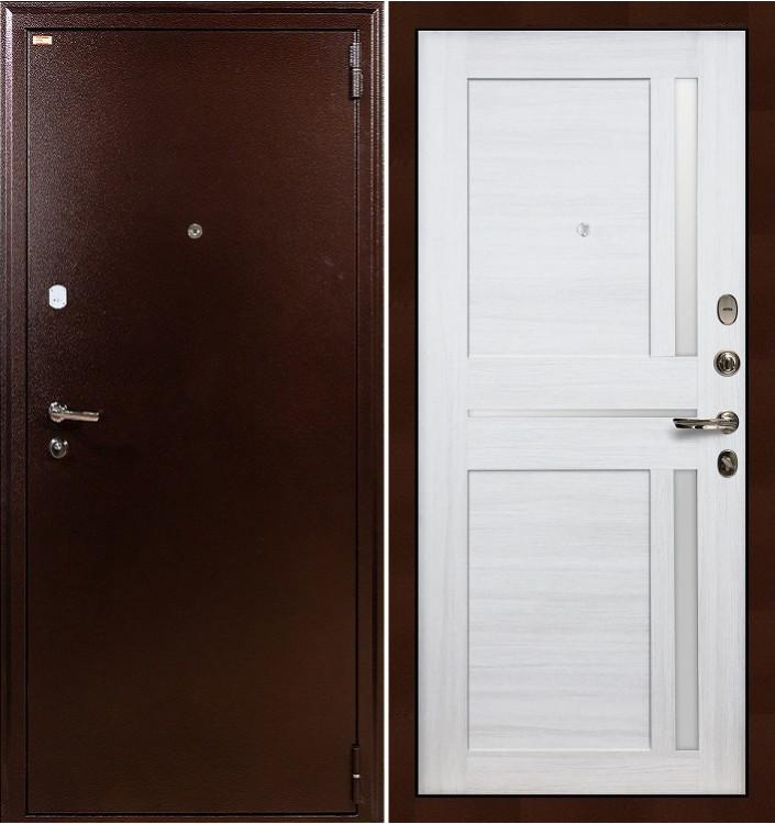 Входная дверь Лекс 1А / Баджио Беленый дуб (панель №47)