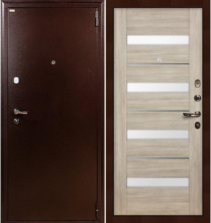 Входная дверь Лекс 1А / Сицилио Ясень кремовый (панель №48)