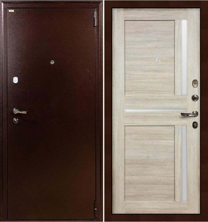 Входная дверь Лекс 1А / Баджио Кремовый ясень (панель №49)