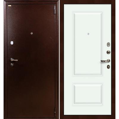 Входная дверь Лекс 1А / Вероника Белая эмаль (панель №55)