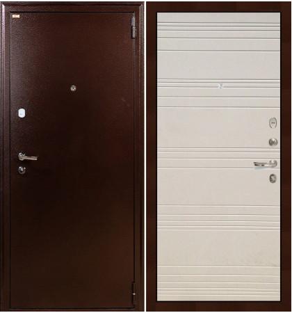 Входная дверь Лекс 1А / Дуб фактурный крем (панель №63)
