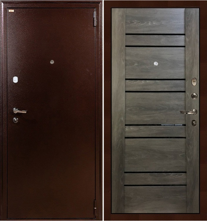Входная дверь Лекс 1А / Терра Графит шале (панель №64)