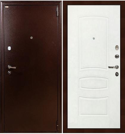 Входная дверь Лекс 1А / Белая шагрень (панель №68)