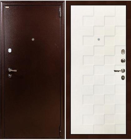 Входная дверь Лекс 1А / Квадро Белая шагрень (панель №71)