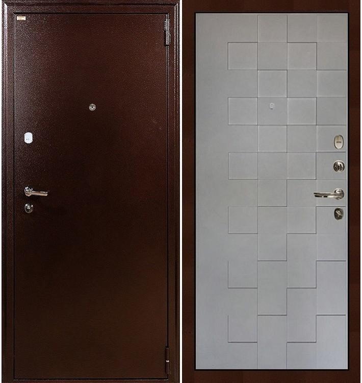 Входная дверь Лекс 1А / Квадро Графит софт (панель №72)