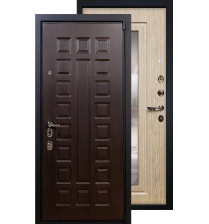 Входная дверь Лекс Неаполь 4А с зеркалом (Беленый дуб)