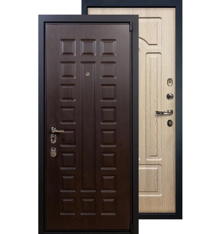Входная дверь Лекс Неаполь 4А ФЛ-25 (Беленый дуб)