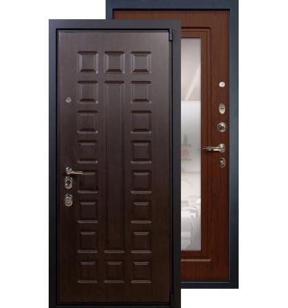Входная дверь Лекс Неаполь 4А с зеркалом (Береза мореная)