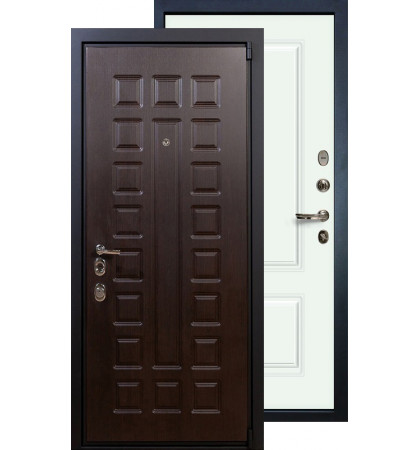 Входная дверь Лекс Неаполь 4А Вероника (Белая эмаль)