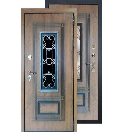 Входная дверь Лекс Русь Термо (Голден патина)