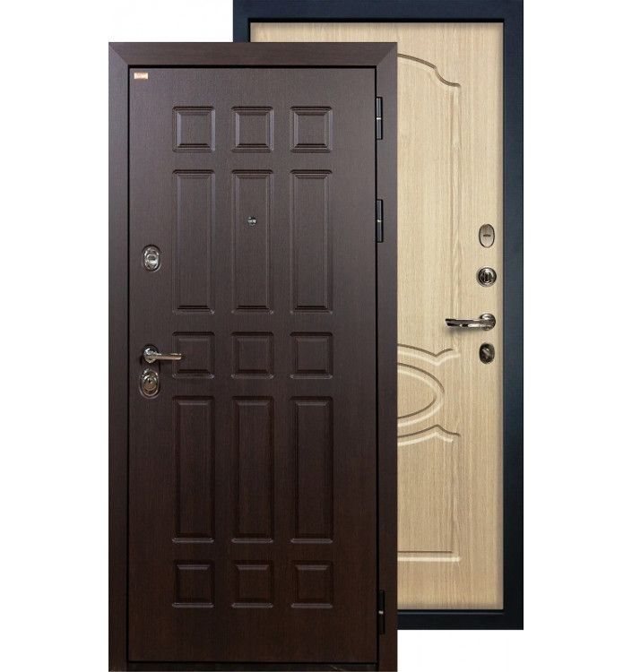 Входная дверь Лекс Сенатор ФЛ-14 (Беленый дуб)