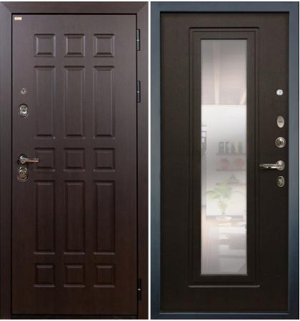Входная дверь Сенатор / с зеркалом Венге (панель №22)