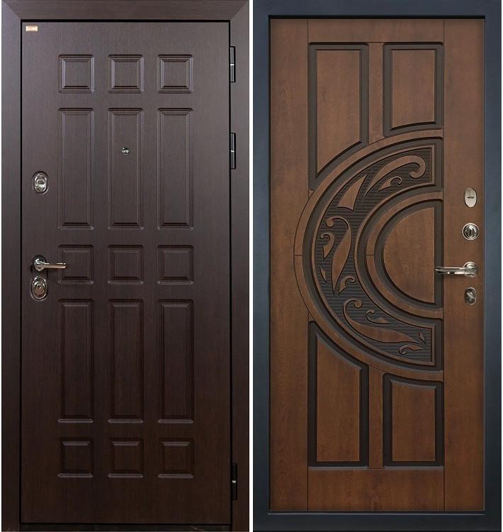 Входная дверь Сенатор / Голден патина (панель №27)