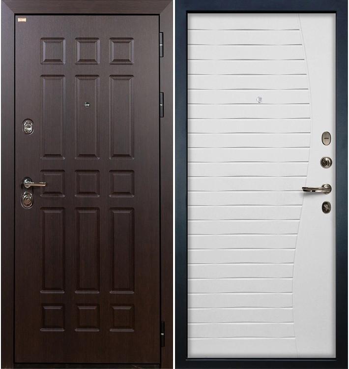 Входная дверь Сенатор / Волна Белый ясень (панель №36)