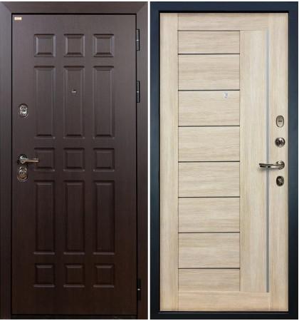 Входная дверь Сенатор / Верджиния Кремовый ясень (панель №40)