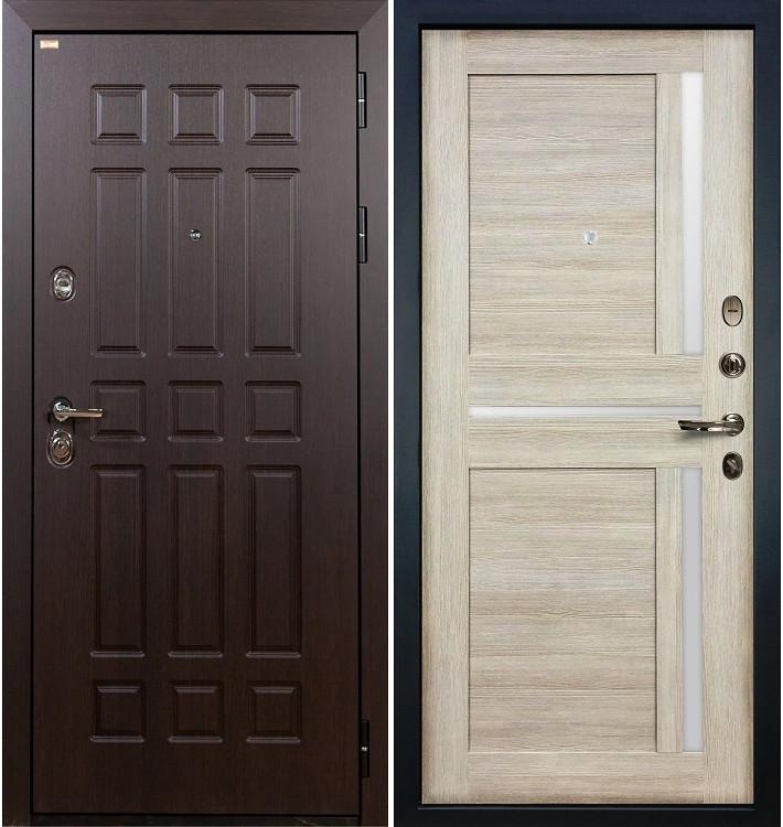 Входная дверь Сенатор / Баджио Кремовый ясень (панель №49)