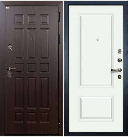 Входная дверь Сенатор / Вероника Белая эмаль (панель №55)