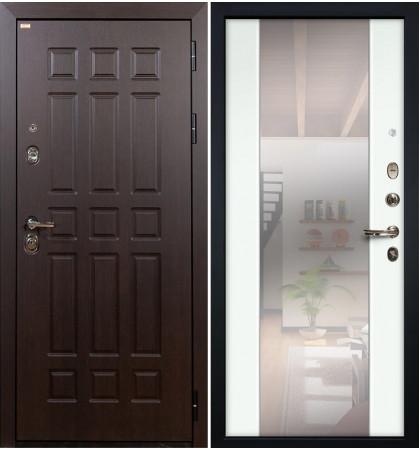 Входная дверь Сенатор / Стиль Белый экошпон (панель №61)