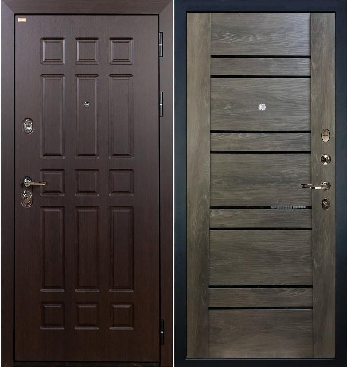 Входная дверь Сенатор / Терра Графит шале (панель №64)