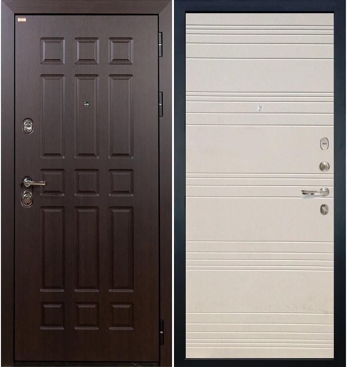 Входная дверь Сенатор / Дуб фактурный крем (панель №63)