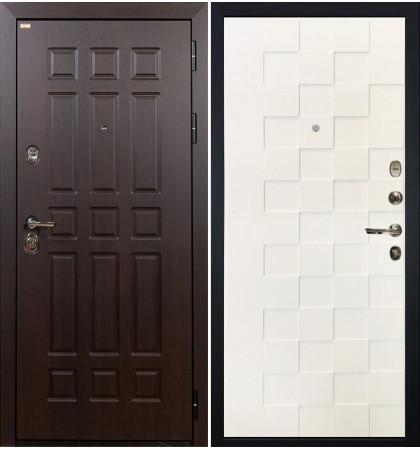Входная дверь Сенатор / Квадро Белая шагрень (панель №71)