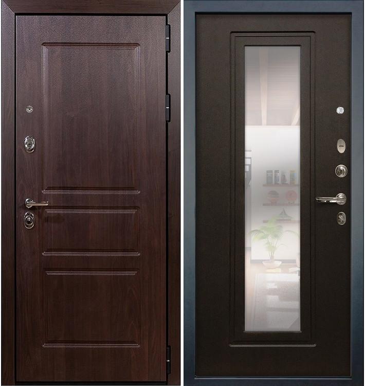 Входная дверь Сенатор Винорит / с зеркалом Венге (панель №22)