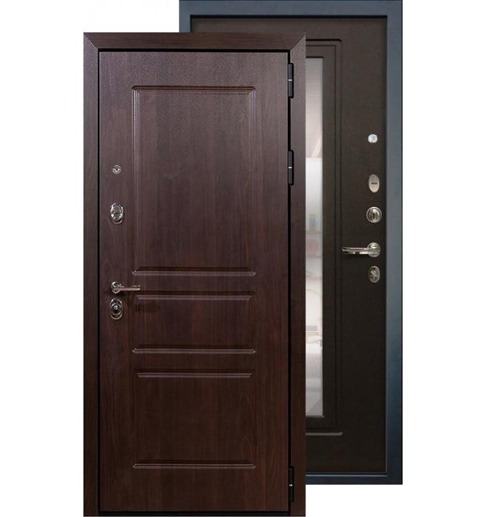 Входная дверь Лекс Сенатор Винорит с зеркалом (Венге)
