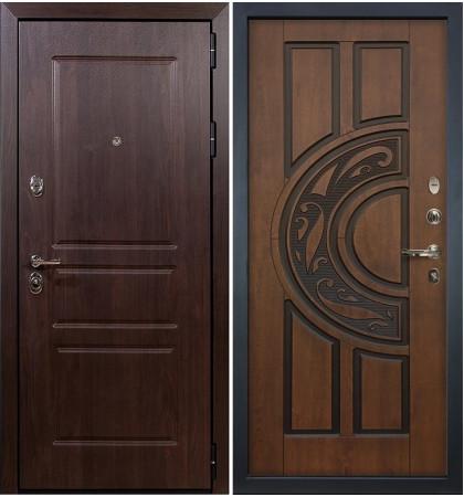 Входная дверь Сенатор Винорит / Голден патина (панель №27)