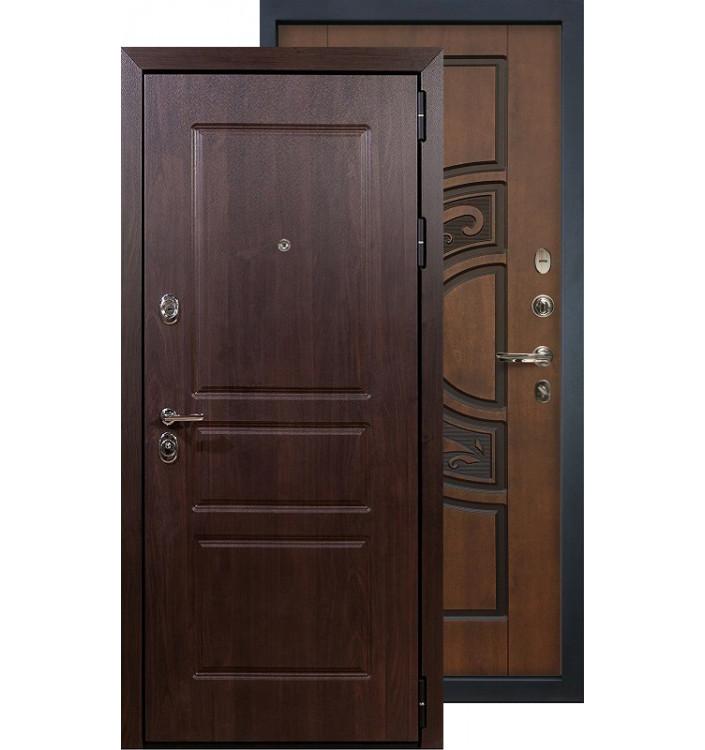 Входная дверь Лекс Сенатор Винорит ФЛ-27 (Голден патина)