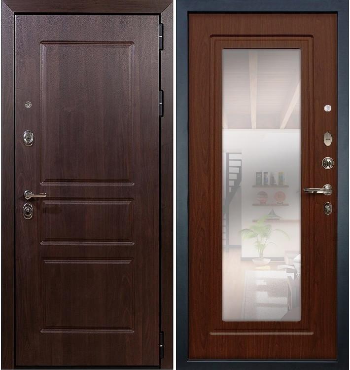 Входная дверь Сенатор Винорит / с зеркалом Береза мореная (панель №30)
