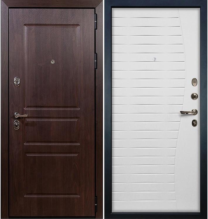 Входная дверь Сенатор Винорит / Волна Белый ясень (панель №36)
