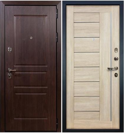 Входная дверь Сенатор Винорит / Верджиния Кремовый ясень (панель №40)