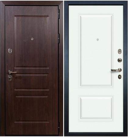 Входная дверь Сенатор Винорит / Вероника Белая эмаль (панель №55)
