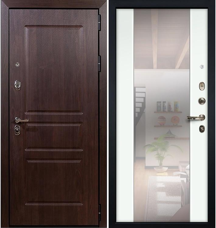 Входная дверь Сенатор Винорит / Стиль Белый экошпон (панель №61)