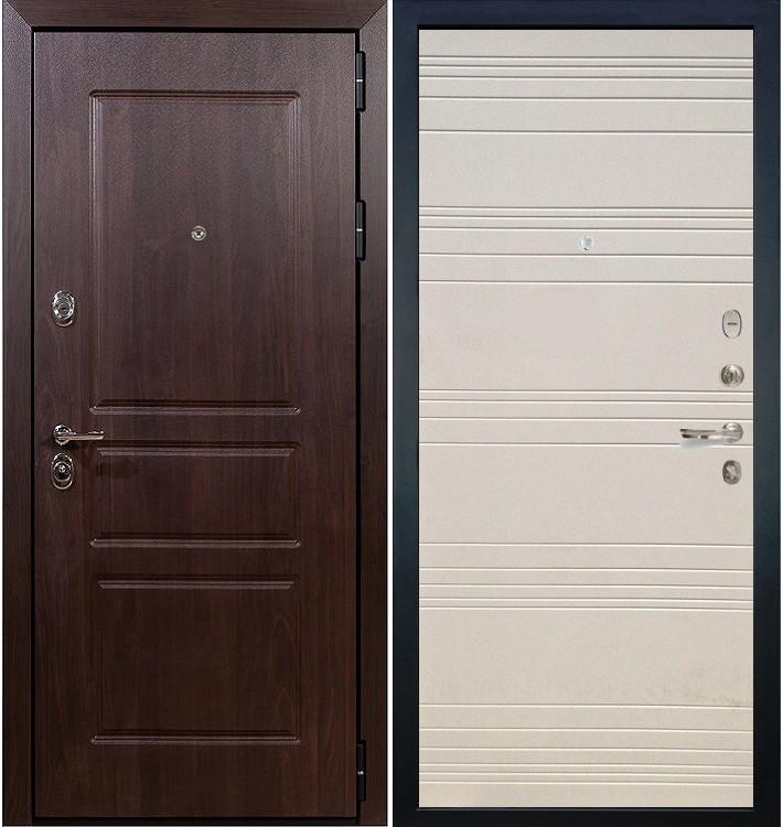 Входная дверь Сенатор Винорит / Дуб фактурный крем (панель №63)