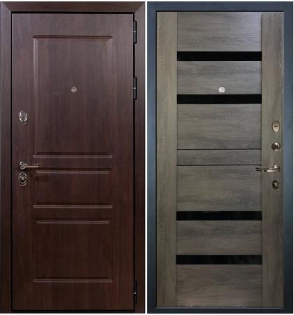 Входная дверь Сенатор Винорит / Неро Графит шале (панель №65)