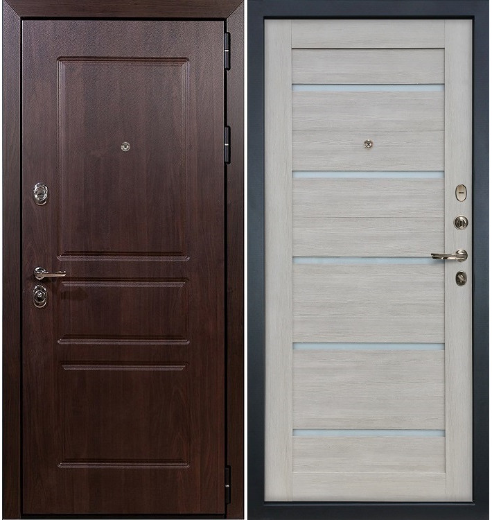 Входная дверь Сенатор Винорит / Клеопатра Ясень кремовый (панель №66)