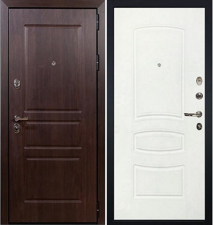 Входная дверь Сенатор Винорит / Белая шагрень (панель №68)