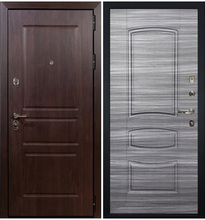 Входная дверь Сенатор Винорит / Сандал серый (панель №69)