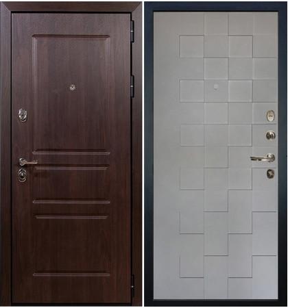 Входная дверь Сенатор Винорит / Квадро Графит софт (панель №72)