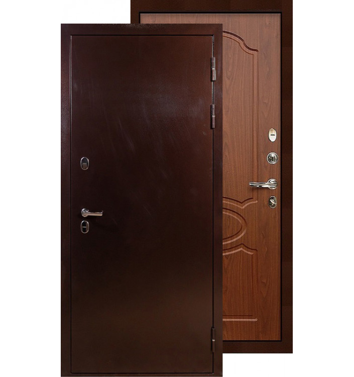 Входная дверь Лекс Термо Сибирь 3К ФЛ-12 (Береза мореная)