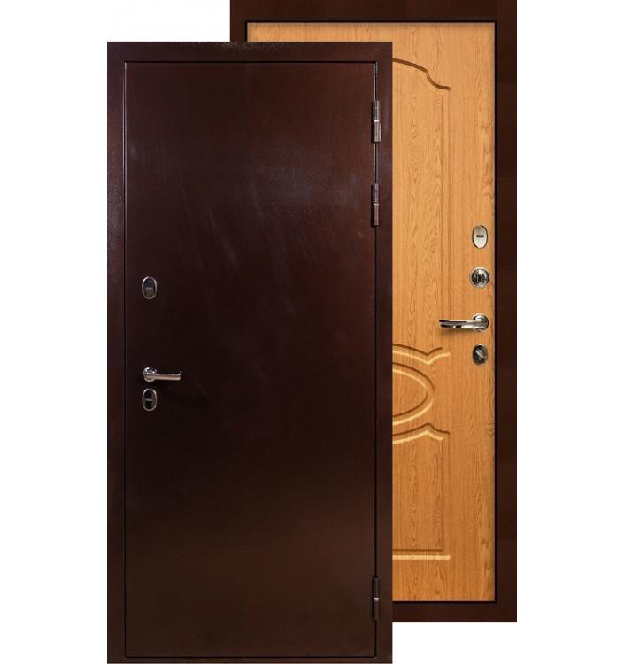 Входная дверь Лекс Термо Сибирь 3К ФЛ-15 (Дуб натуральный)