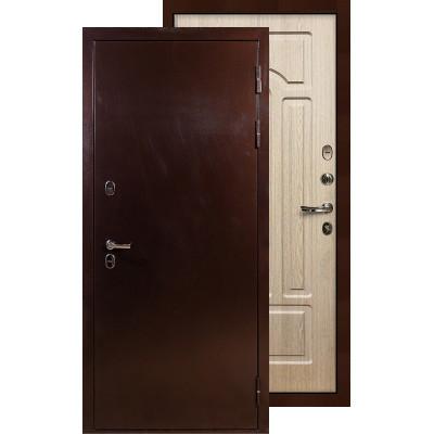 Входная дверь Лекс Термо Сибирь 3К ФЛ-25 (Беленый дуб)