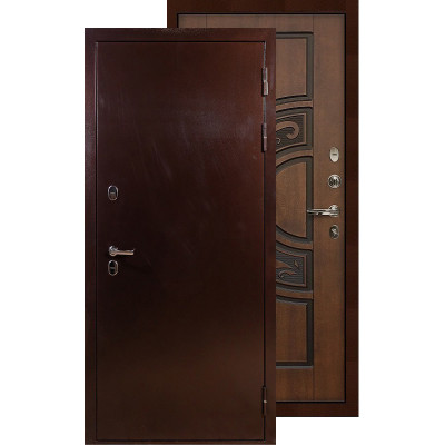 Входная дверь Лекс Термо Сибирь 3К ФЛ-27 (Голден патина)