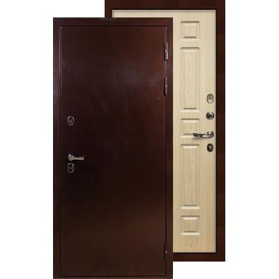 Входная дверь Лекс Термо Сибирь 3К ФЛ-28 (Беленый дуб)