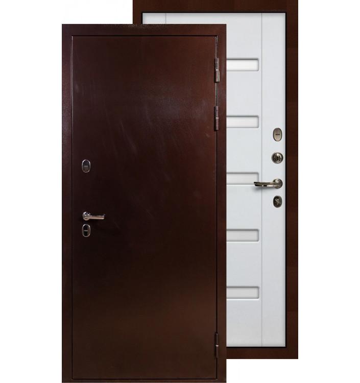 Входная дверь Лекс Термо Сибирь 3К ФЛ-34 (Белый ясень)