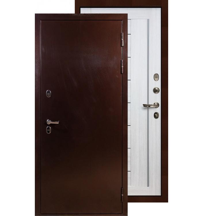 Входная дверь Лекс Термо Сибирь 3К Верджиния (Беленый дуб)