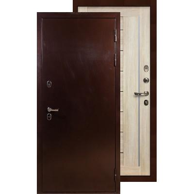 Входная дверь Лекс Термо Сибирь 3К Верджиния (Кремовый ясень)